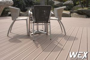 Pose bois composite-terrasse