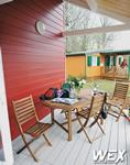 Terrasse en bois composite pour un chalet de Super-Besse