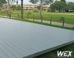Terrasse en bois composite pour un terrain de golf de Méditerranée