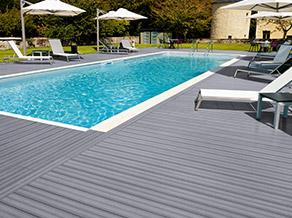 Gamme atlantique piveteau bois for Bois composite terrasse piscine